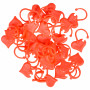 Infinity Hearts Mask markers Heart Red 2x1.5cm - 30 pcs