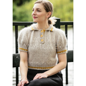 HannePoloen af Molly by Mayflower - Knitted Polo Pattern Size S-XXL