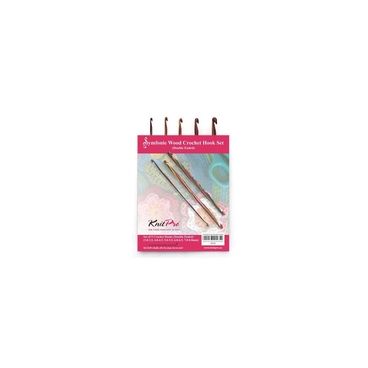 KnitPro Symfonie Set of 5 15cm Double Ended Knitting Pin Set
