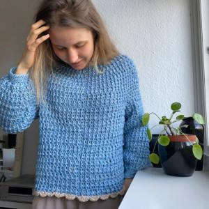 Lily's Sweater by Rito Krea - Sweater Crochet Pattern size XS-XL