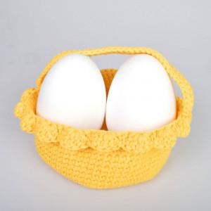 Easter Basket by Rito Krea - Basket Crochet Pattern 20cm