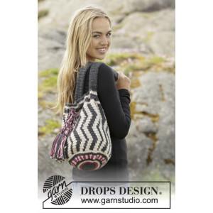 Port Noir by DROPS Design - Crochet Bag Colour Pattern 70x34 cm