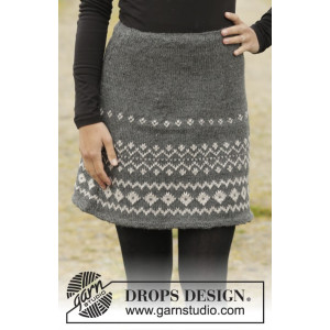 Diamond Twist by DROPS Design - Knitted Skirt Colour Pattern size S - XXXL