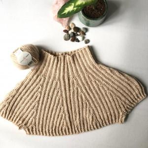 Weeping Willow Shrug v1 by Rito Krea - Shrug Knitting Pattern Size S-XL