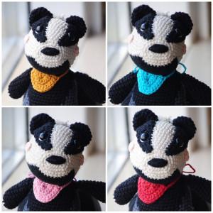 Ben The Badger by Rito Krea - Bear Crochet pattern 15cm