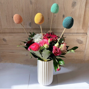 Easter Egg by Rito Krea - Crochet pattern 4,5cm - approx. 20 pcs