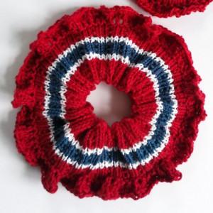 Scrunchie by Rito Krea - Scrunchie Knitting pattern 14.5cm