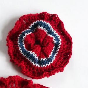 Mini Scrunchie by Rito Krea - Scrunchie Knitting pattern 9cm
