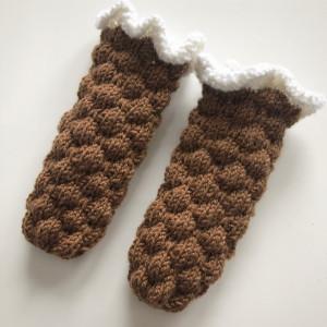 Bubble Dream Socks by Rito Krea - Baby Socks Knitting Pattern size 0-1 month
