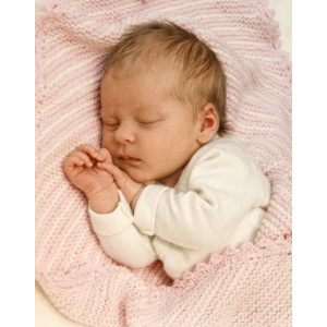 Dream Date by DROPS Design - Knitted Baby Blanket Patterns 34x51 cm or 50x75 cm