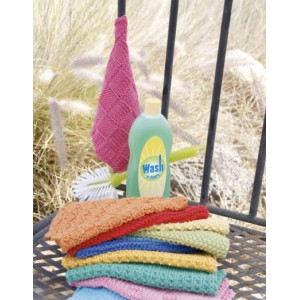 Summer Jolly by DROPS Design - Knitted Kitchen Cloths Pattern 21x21 cm