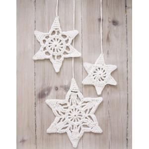 Wishing Stars by DROPS Design - Crochet Christmas Star Pattern 3 sizes