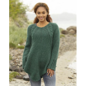 Emerald Queen by DROPS Design - Knitted Tunic with Cables Pattern size S - XXXL