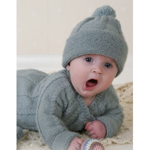 Little Prince by DROPS Design - Knitted Baby Jacket, Hat, Mittens and Booties Pattern Size 1 months - 3 years