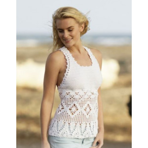 Aphrodite by DROPS Design - Crochet Top with Fans and Star Pattern Size S - XXXL
