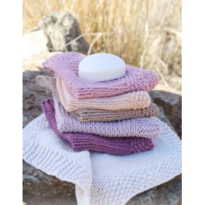 Scrubbie by DROPS Design - Knitted Cloths Pattern 28x27 cm