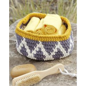 Quito by DROPS Design - Crochet Basket Pattern 20x10 cm