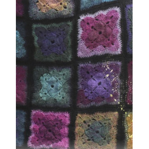 Heartland by DROPS Design - Crochet Blanket with Granny Squares 83x137 cm or 110x164 cm