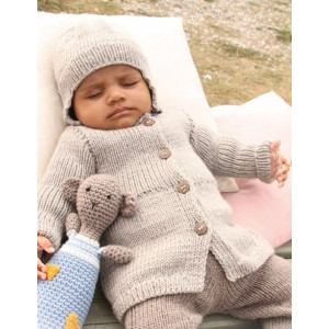 Samuel Jacket by DROPS Design - Knitted Baby Jacket size 1 months - 4 years