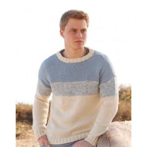 Blue Horizon by DROPS Design - Knitted Men's Jumper Pattern size S - XXXL