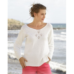 Sunny Day by DROPS Design - Knitted Blouse Pattern size S - XXXL
