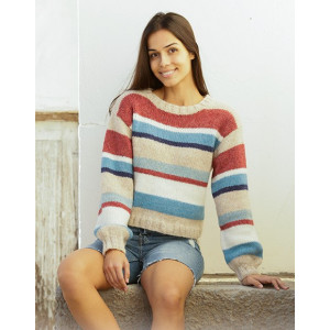 Bretagne by DROPS Design - Knitted Jumper Pattern Sizes S - XXXL