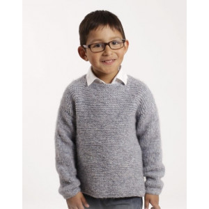 Modest Michael by DROPS Design - Knitted Jumper in Garter Stitch Pattern size 12 months - 10 years