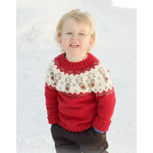 Little Red Nose by DROPS Design - Knitted Jumper Pattern Sizes 12 months - 12 years