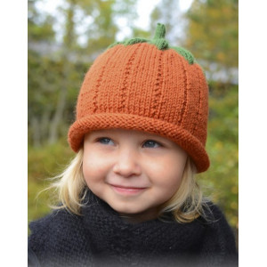 Sweet Pumpkin by DROPS Design - Knitted Pumpkin Hat for Halloween Pattern size 0 months - 8 years