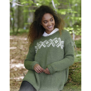 Nordkapp by DROPS Design - Knitted Jumper with Multi-colour Norwegian Pattern size S - XXXL