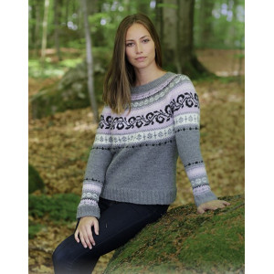 Telemark by DROPS Design - Knitted Jumper with Multi-coloured Norwegian Pattern size S - XXXL