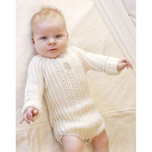Simply Sweet by DROPS Design - Knitted Baby Bodystocking Pattern size Premature - 4 years