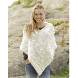 Snow Beads by DROPS Design - Knitted Poncho with different Patterns size S -XXXL