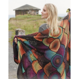 Over The Rainbow by DROPS Design - Knitted Blanket Pattern 100x150cm