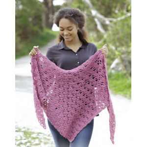 Paradis by DROPS Design - Shawl Crochet Kit 90x60 cm