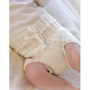 Pampered by DROPS Design - Knitted Baby Underpants Pattern Size Premature - 4 years