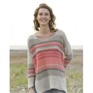 Laid Back Afternoon by DROPS Design - Knitted Blouse Pattern size S - XXXL