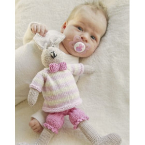 Mrs. Bunny by DROPS Design - Knitted Baby Toy Pattern