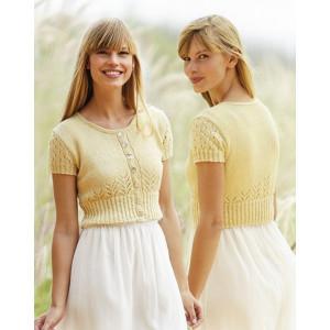Spring Fling by DROPS Design - Knitted Bolero Pattern size S - XXXL