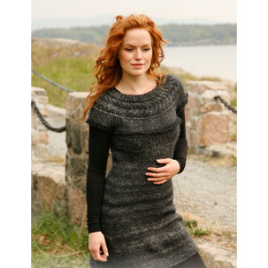 Forest Nymph by DROPS Design - Knitted Dress with Cables on yoke Pattern size S - XXXL