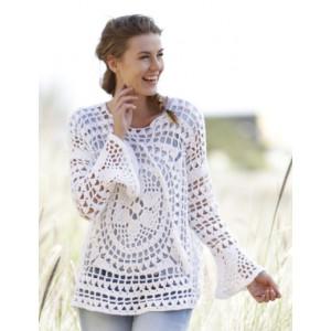 Janis by DROPS Design - Crochet Jumper Lace Pattern Size S - XXXL