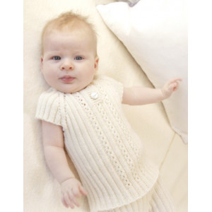 Simply Sweet Singlet by DROPS Design - Knitted Baby Underwear Pattern size Premature - 4 years