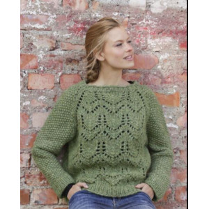 Miss Mossby DROPS Design - Knitted Jumper Pattern Sizes S - XXXL