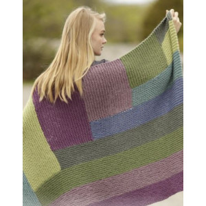 Colorblock by DROPS Design - Knitted Blanket in Garter Stitch with Stripes Pattern 130x88 cm