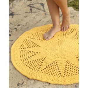 Sol by DROPS Design - Crochet Rug Pattern 84 cm