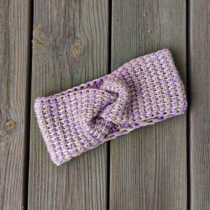 Linen Headband by Rito Krea - Headband Tunesian Crochet Pattern Size Baby-Adult