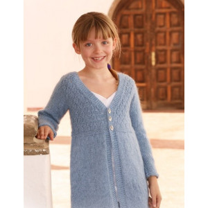 Little Emma by DROPS Design - Knitted Jacket with Long Sleeves Pattern size 7 - 14 years