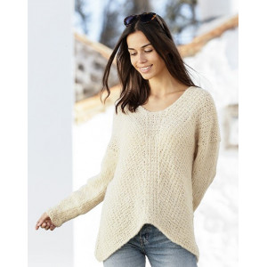 Freedom Found by DROPS Design - Knitted Jumper Pattern Sizes S - XXXL