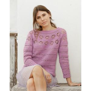Daisy Chain by DROPS Design - Crocheted Jumper Pattern Sizes S - XXXL