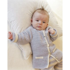 Heartthrob by DROPS Design - Crochet Baby Jacket Pattern size 1 months - 4 years